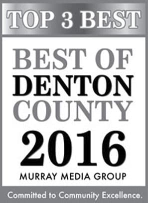 Top 3 Best of Denton County 2016